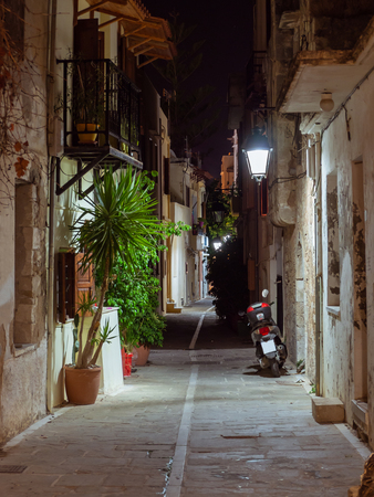 Back street at night  in the old part of Mediterranean town Reklamní fotografie