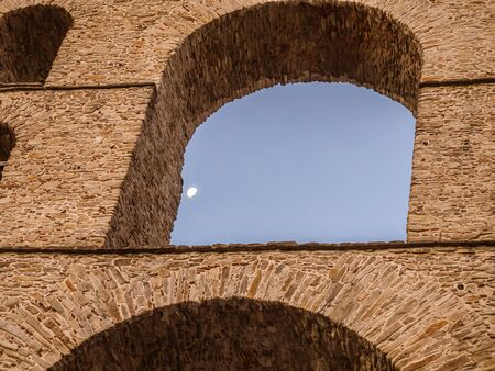 Detail of the ancient roman aqueduct