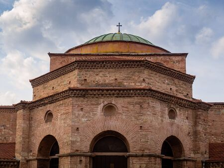 Beautiful Ancient Byzantine Church in the center of Thessaloniki, Greece 写真素材 - 131700252