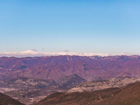 Mountains in autumn - Kavala, Greece