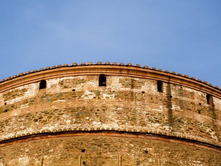 Details of architecture of Roman Rotunda temple in Thessaloniki from 306. AD now an Orthodox Christian church