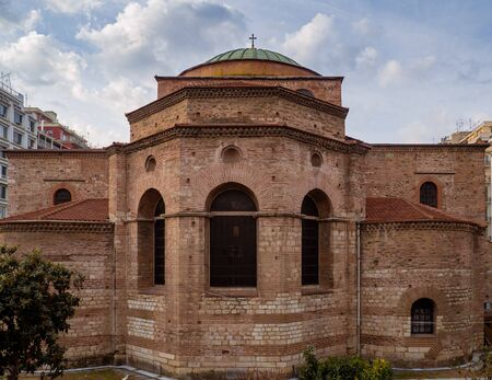 Ancient Byzantine Church in the center of Thessaloniki, Greece