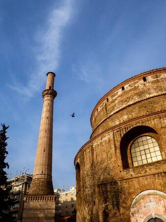 Beautiful Roman Rotunda temple in Thessaloniki from 306. AD now an Orthodox Christian church Фото со стока