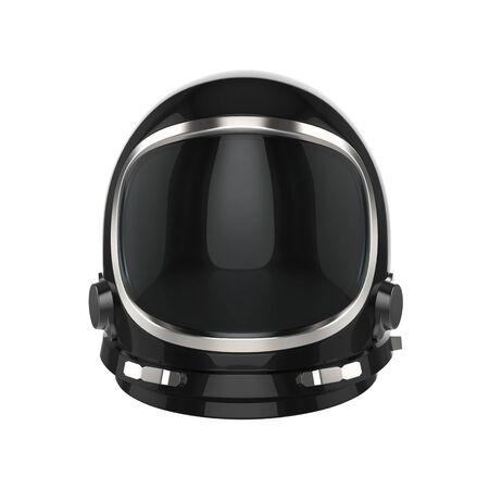 Black vintage astronaut helmet - isolated on white background 写真素材 - 131702145