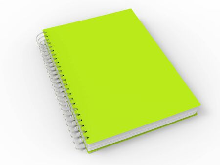 Mad lime green spiral binding notebook Stock Photo