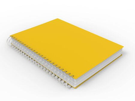Sun yellow spiral binding notebook 写真素材 - 131702340