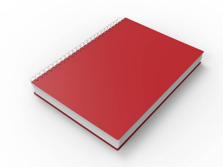 Cool red spiral binding notebook Stockfoto
