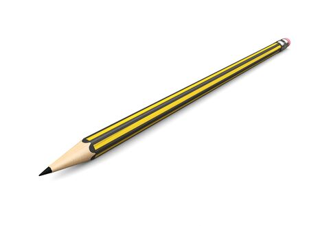 Black and yellow graphite pencil