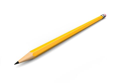 Normal yellow graphite pecil with eraser