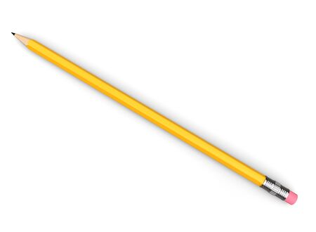 Basic graphite pencil with eraser - top down view