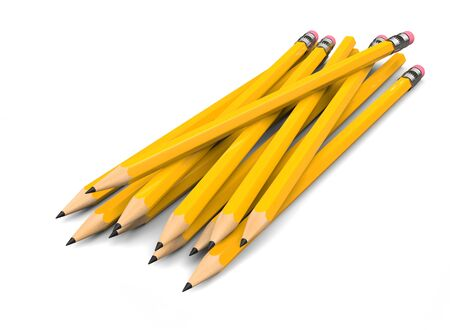 Pack of yellow pencils - some with erasers on the back end