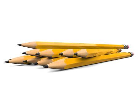 Sharpened pencils - low angle closeup shot