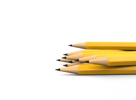 Sharpened pencil tips - side view - closeup shot 写真素材 - 131621849