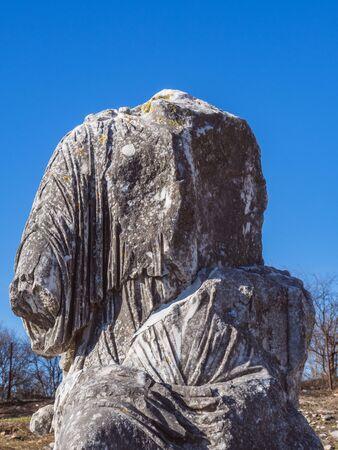Ancient broken statue from the Roman period - Philippi, Greece