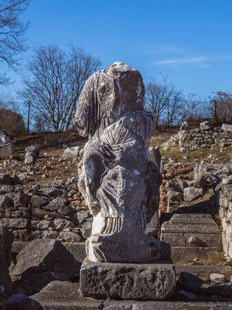 Ancient stone statue from the Roman period - Philippi, Greece