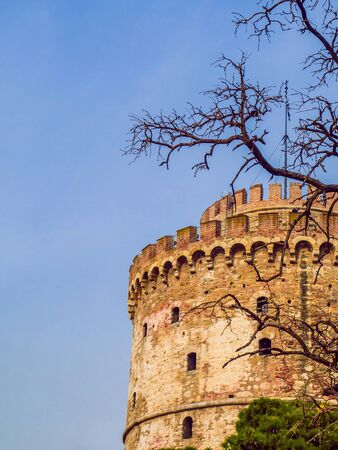 White Tower of Thessaloniki - ancient prison tower from medieval ages