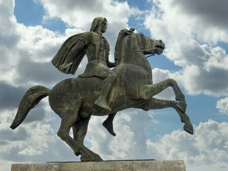 Monument statue of Alexander The Great in Thessaloniki