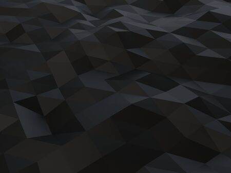 Black low polygon abstract background - triangulated polygons