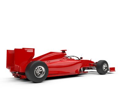 Red super fast racing car - rear view Stockfoto