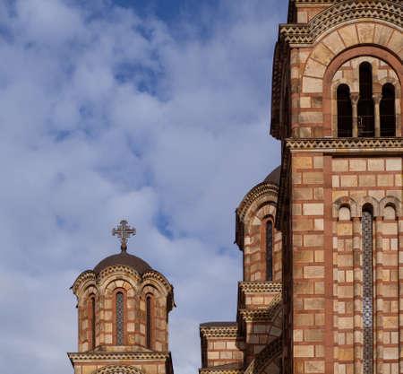 Church od St.Mark in Belgrade, Serbia - Beutiful medieval church in Europe Stock Photo