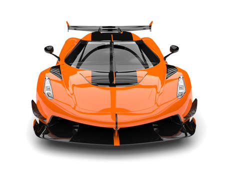 Sun orange race super car - front view 写真素材
