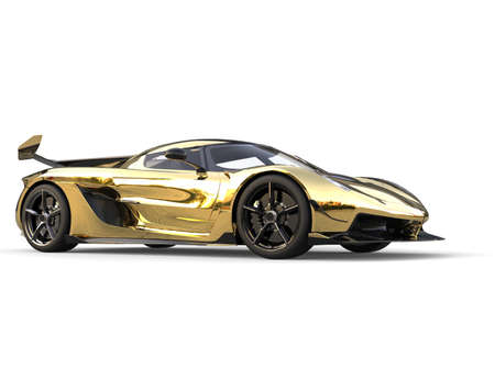 Golden race sports super car 写真素材