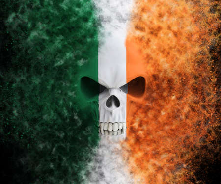 Irish vampire skull - particle FX - 3D Illustration