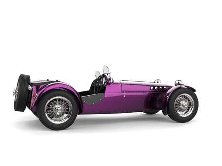 Metallic purple vintage open wheel sport racing car