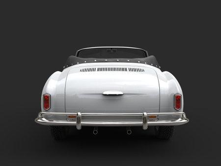 Restored old vintage white cabriolet car - tail view Reklamní fotografie