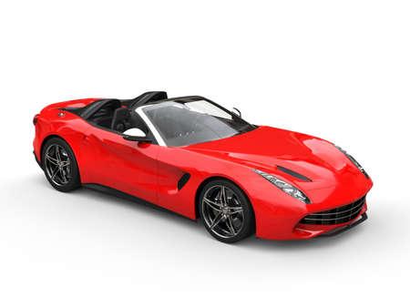 Modern red cabriolet sports car