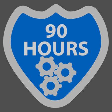 90: 90 Hours Illustration