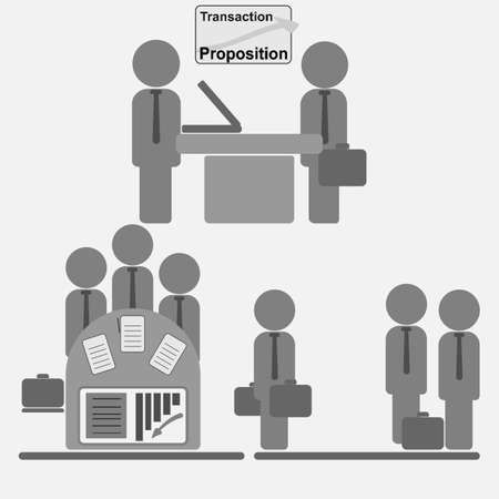 business transaction: Business Transaction Illustration