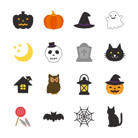 pajaro caricatura: icono de Halloween