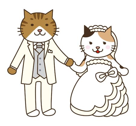 married couples: Wedding of cat