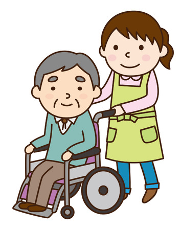 old nursing: Wheelchair and grandfather