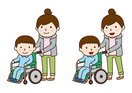 Wheelchair and boy