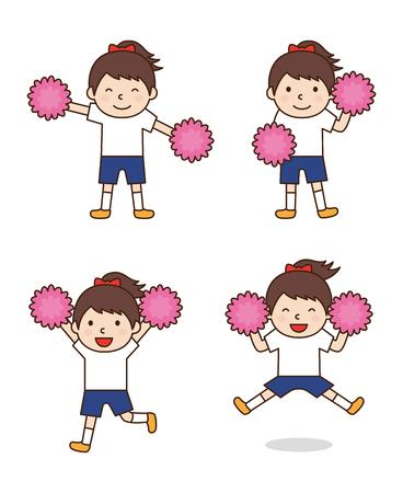 pompon: Children to cheer