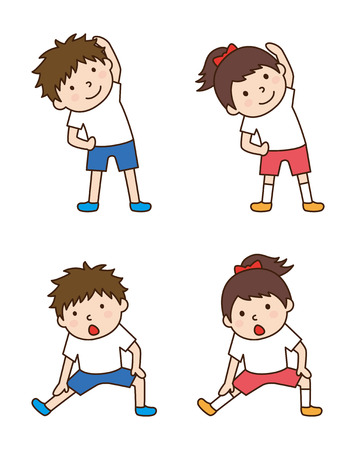 gymnastics: Children to gymnastics Illustration