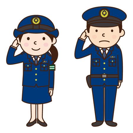 Politie agent Stock Illustratie