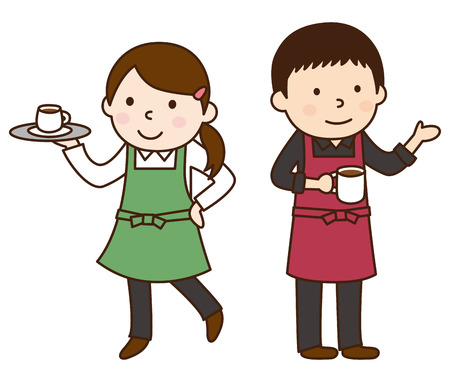 oficinista: Cafe empleado