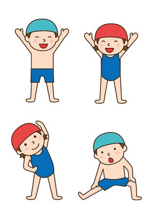 maillot de bain: Piscine échauffement