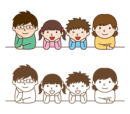 happy family: Family Illustration