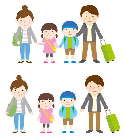 春と秋の家族旅行