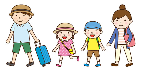夏の家族旅行