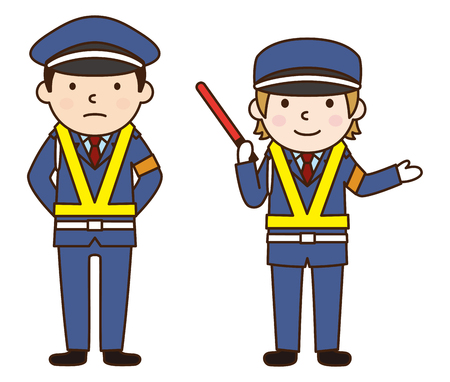 guardia de seguridad: Guardia de seguridad  Vectores