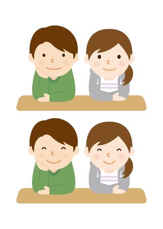 カップル  イラスト・ベクター素材
