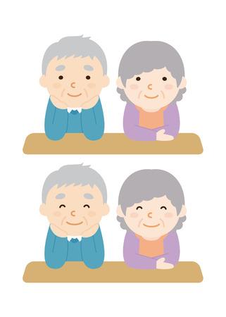 elderly couple: Elderly couple Illustration
