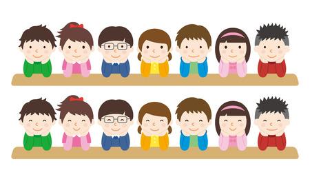 友人  イラスト・ベクター素材