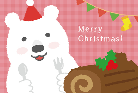 cake background: Christmas card
