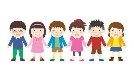 子供が手を上げる  イラスト・ベクター素材